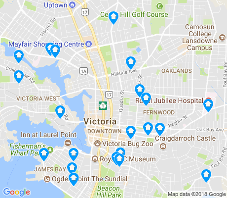 map of Victoria apartments for rent