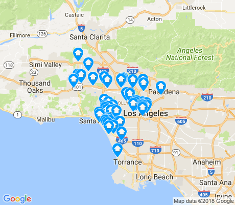 map of Los Angeles apartments for rent