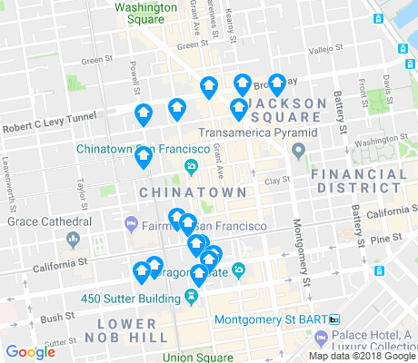 map of Chinatown apartments for rent
