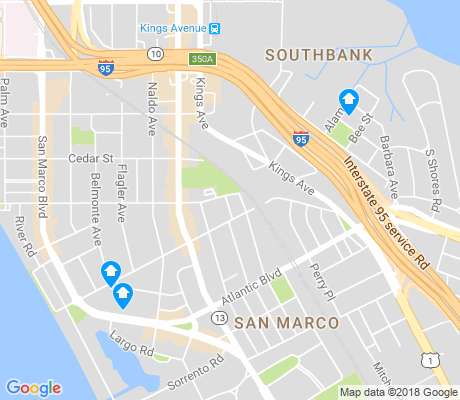 map of San Marco apartments for rent