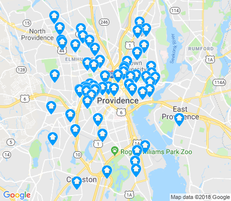 map of Providence apartments for rent