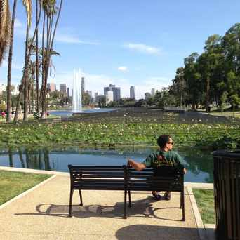 Photo of Echo Park Lake in Echo Park, Los Angeles