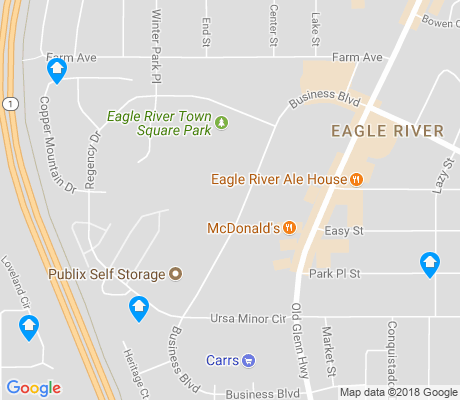 map of Downtown Eagle River apartments for rent