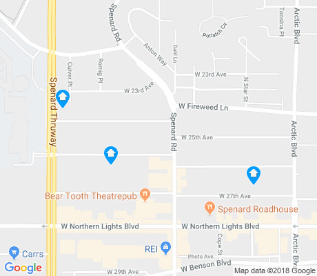 map of Downtown Spenard apartments for rent