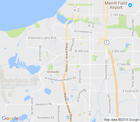 map of Evergreen apartments for rent