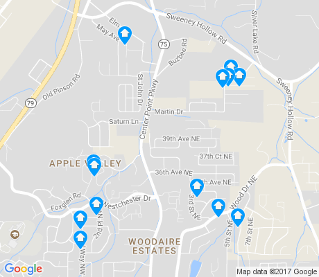 map of Apple Valley apartments for rent