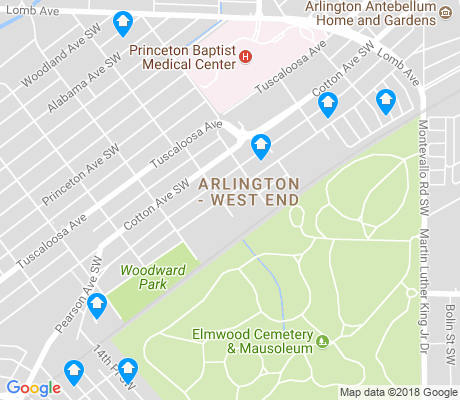 map of Arlington - West End apartments for rent