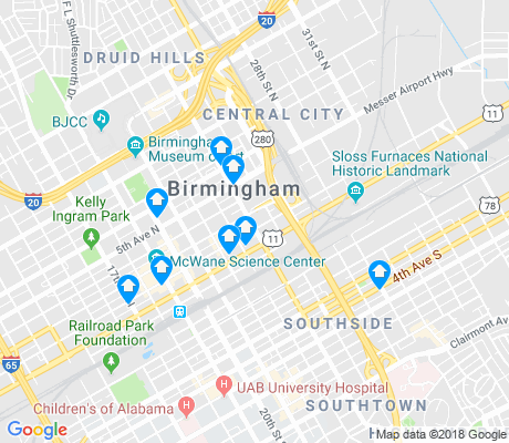 map of Central City apartments for rent