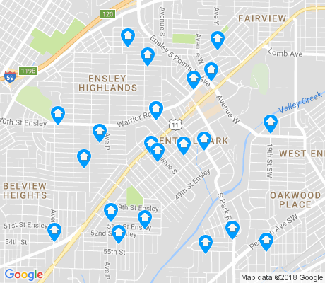 map of Central Park apartments for rent