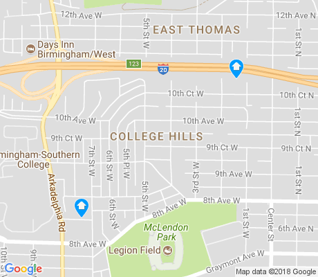 map of College Hills apartments for rent
