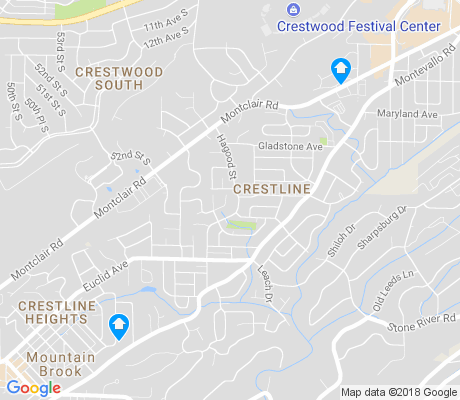 map of Crestline apartments for rent