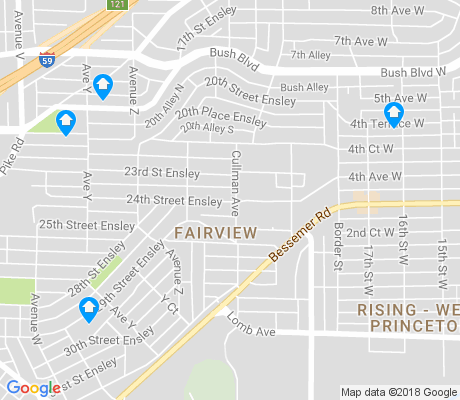 map of Fairview apartments for rent