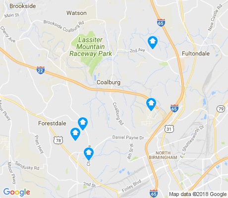 map of Hooper City apartments for rent