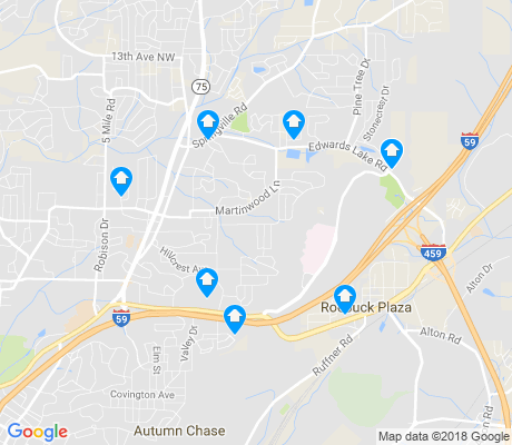 map of Huffman apartments for rent