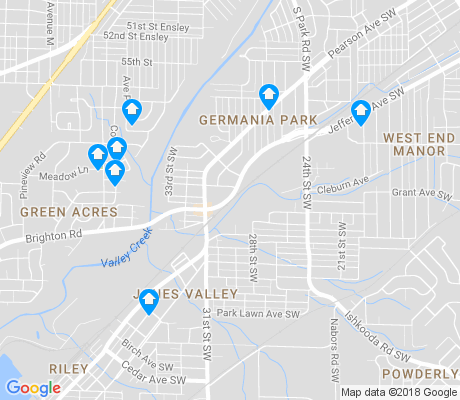 map of Jones Valley apartments for rent