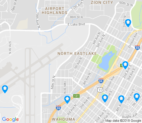 map of North Eastlake apartments for rent