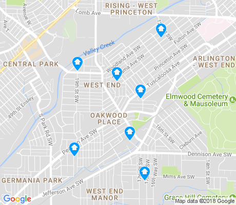 map of Oakwood Place apartments for rent