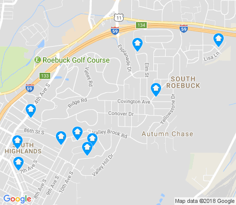 map of South Roebuck apartments for rent