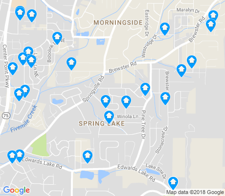 map of Spring Lake apartments for rent