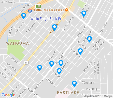 map of Wahouma apartments for rent