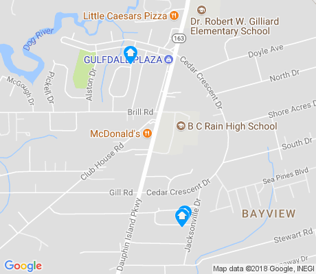 map of Bayview apartments for rent