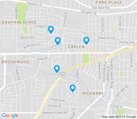 map of Carlen apartments for rent