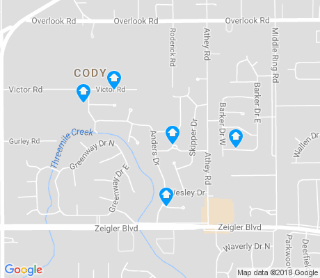 map of Cody apartments for rent