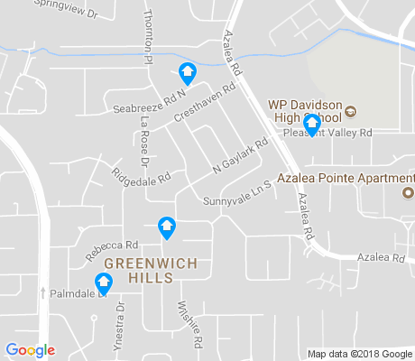 map of Greenwich Hills apartments for rent