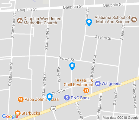 map of Hannon Park apartments for rent
