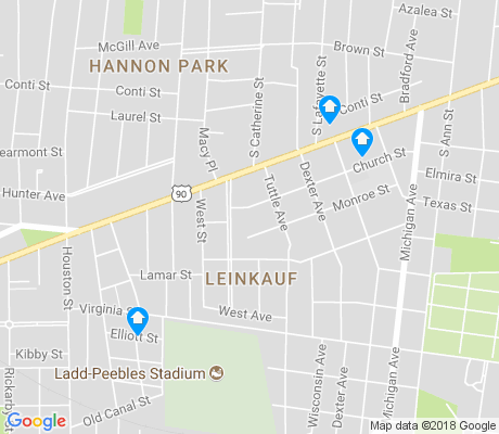 map of Leinkauf apartments for rent