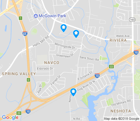 map of Navco apartments for rent