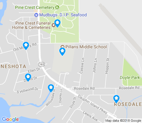 map of Neshota apartments for rent