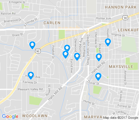 map of Rickarby apartments for rent
