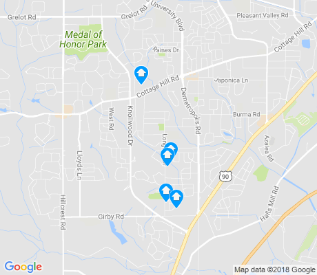 map of Terrace Hills apartments for rent