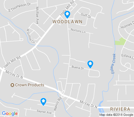map of Woodlawn apartments for rent
