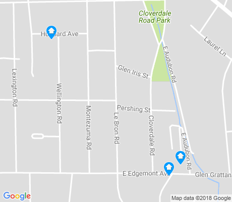 map of Cloverdale-Idlewild apartments for rent