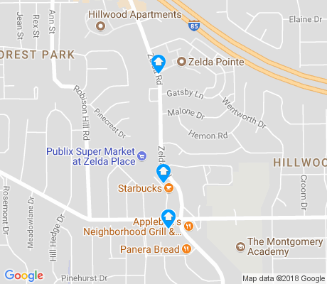 map of Hillwood apartments for rent