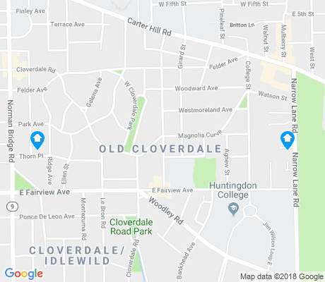 map of Old Cloverdale apartments for rent