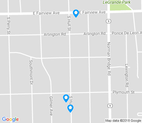 map of South Hull apartments for rent