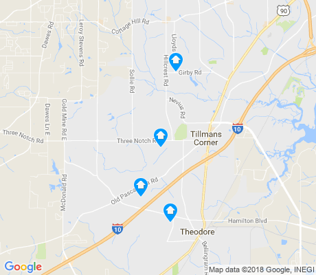 map of Tillmans Corner apartments for rent