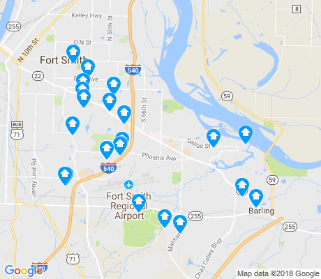map of 72903 apartments for rent