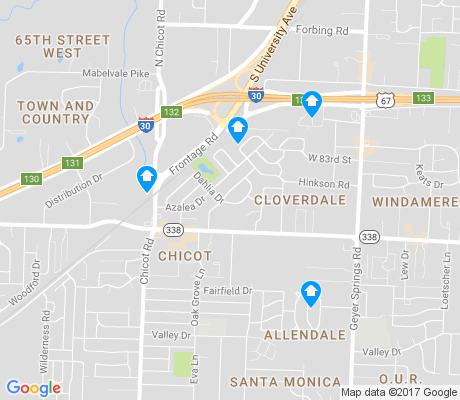 map of Cloverdale Watson apartments for rent