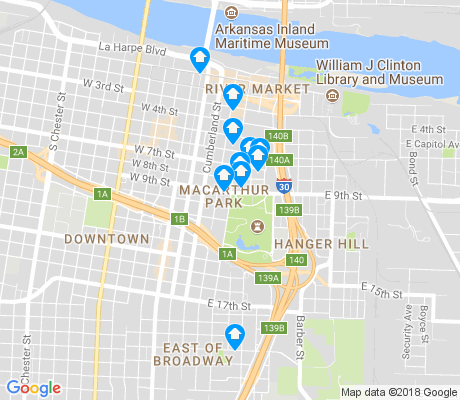 map of East of I-30 apartments for rent