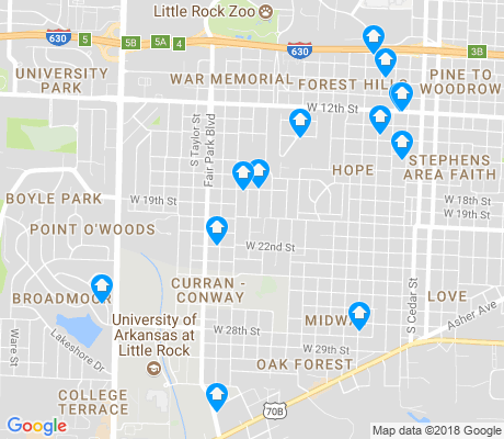 map of Oak Forest apartments for rent