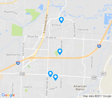 map of Upper Baseline apartments for rent