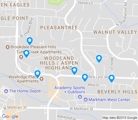 map of Walnut Valley apartments for rent