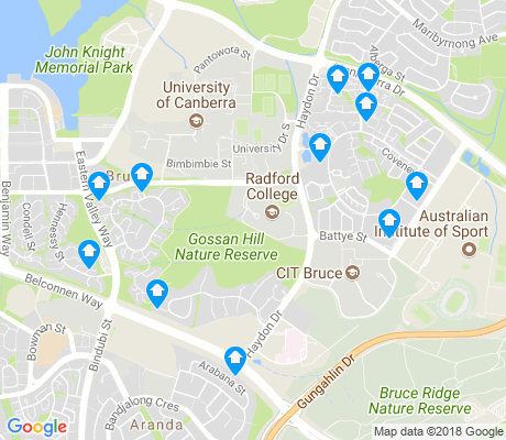 map of Bruce apartments for rent