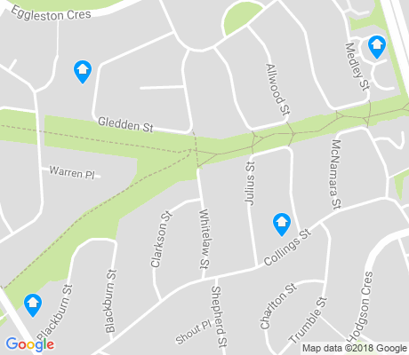 map of Chifley apartments for rent