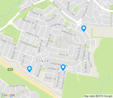 map of Crace apartments for rent