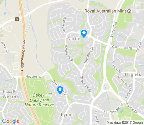 map of Curtin apartments for rent